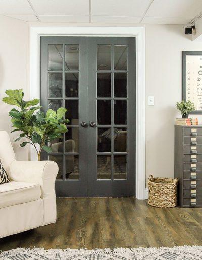 Puerta interior vidriada